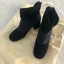 See by Chloe Black and Blue Suede Booties Size 36.5 Photo
