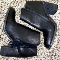 See by Chloe Black Leather Ankle Boots Booties Retail 635  Size 38 Us 7.5 Photo