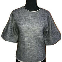 See by Chloe Black Wool Blend Wide Sleeve Sweater Raw Edge 2 Nwot New Photo