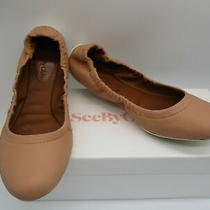 See by Chloe Blush Leather Scrunch Ballet Flat Sneaker Sz 38 Photo