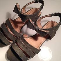 See by Chloe Canvas Patty Bow Detail Flat Sandal Olive Green Like New  Eu 41 Photo