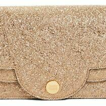 See by Chloe Champagne Foil Crossbody Purse Convertible Clutch Shoulder Bag Photo