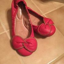 See by Chloe Clara Bow Zipper Cherry Leather 36 Ballet Flat Photo