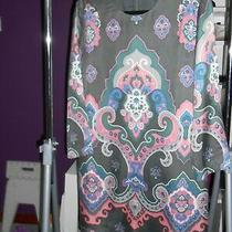 See by Chloe Dress Long Sleeve Uk14 Usa10 F42 Geometric Paisley Art Nouveau   Photo
