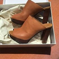 See by Chloe Eu 38.5 Us 7.5 Peep-Toe Mule High Heel Sandals Shoes Photo