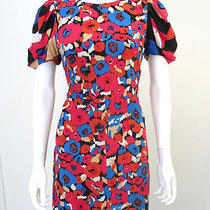 See by Chloe Floral Print Silk Short Sleeve Pencil Dress Sz 42 Us 6 S Photo