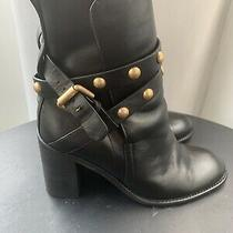 See by Chloe Janis Womens Boots Sz 38 8.5 Black Leather Studded Heel Bootie 495 Photo