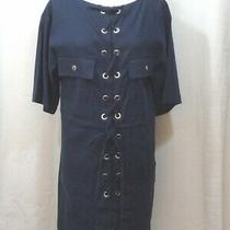 See by Chloe Linen Cotton 5-Minute Dress 34 Navy Nm4006164792 Photo