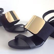 See by Chloe Metal Plate Vamp Stacked Heel Sandal. Size 39 Photo
