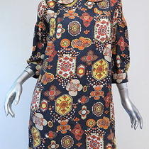 See by Chloe Mod Floral Print Peter Pan Collar Mini Dress Charcoal Size 38 Us 2 Photo