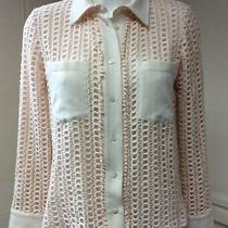 See by Chloe Pink Champagne Lace Blouse Shirt  Size 38 Uk 10 Sk  Photo