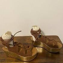 See by Chloe Platform Suede Brown Wedge Womens Sandals. Size 6 Photo