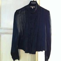 See by Chloe Silk Satin Cossack Blouse Us 4 Photo