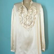 See by Chloe Silk-Satin Ruffle Front Tunic Sz 6 360.00 Photo