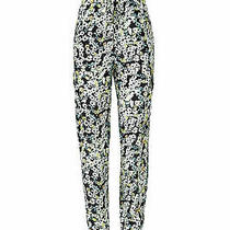 See by Chloe Women's Pants Black Size 34x29 Floral Print Cargo 440- 460 Photo