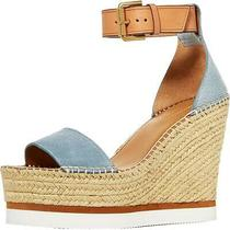 See by Chloe Womens Glyn Blue Wedge Sandals Platforms 40 Medium(bm) Bhfo 5362 Photo