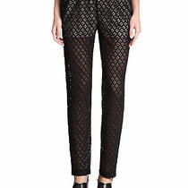 See by Chloe Womens Pants Black Size Us 6 Fr 42 Lace Stretch Trousers 320 852 Photo