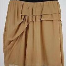 See by Chloe Womens Skirt Size 10 Beige Solid Cotton Above Knee Straight Casual Photo