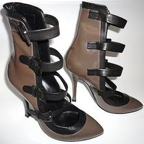 Segio Rossi Gray Ankle Boots Heels 38 1/2 or 8.5 Made in Italy Photo
