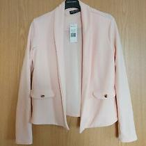 Select Blush Pink Nude Button Detail Jersey Fabric Jacket Size 8 Wedding Summer Photo