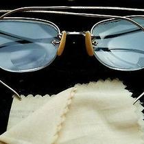 Semi-Rimless Ao American Optical12k Gold Filledbifocal Eye Glassesw/ Case Photo