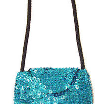 Sequin Beaded Small Purse Turquoise Aqua Blue Photo