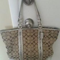Sequin Embellished Coach Handbag Photo