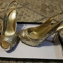 Sequin Gold 6.5 Guess High Heels Photo