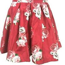 Sequin Hearts New Junior's Size 3 Wine Blush Floral Full a-Line Skirt Nwt Photo