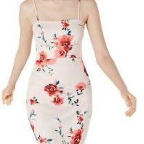 Sequin Hearts Womens Dress Light Blush Pink Size 9 Sheath Floral Print 59- 022 Photo