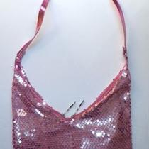 Sequin Hobo Shoulder Bag Handbag Purse Cute Pink New Photo