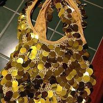 Sequin Knit Handbag Gold Sequin Handbag Photo