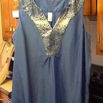 Sequin Trim Blue Tunic  Photo