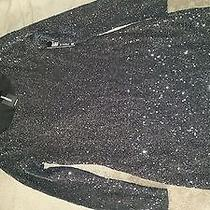 Sequined Black Dress Szs Photo