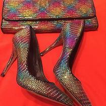 Sequins Aldo Shoes and Clutch Photo