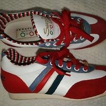 Serafini Luxury St. Tropez Italy Leather Suede Lace Up Sneakers Sz 37 Us 6 Shoes Photo