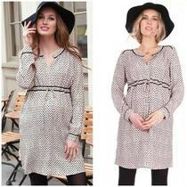 Seraphine Maternity Blush Printed Woven Dress 10 Photo