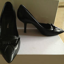 Sergio Rossi Black Leather Shoes Pumps 38 8 100% Authentic  Prada Shoe Bag Photo