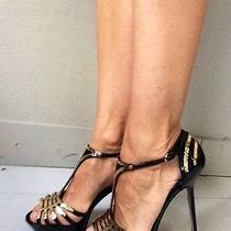 Sergio Rossi Gold Plated Platform Sandals Size 37 -Unique Rare and Hard to Find Photo