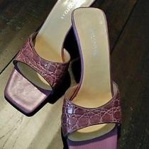 Sergio Rossi Lilac Open Toe Sandals Size 38/8 Photo
