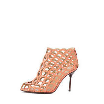 Sergio Rossi Mermaid Leather Sandal - Coral 40 1050 Photo