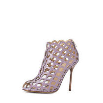 Sergio Rossi Mermaid Leather Sandal - Purple 38.5 1050 Photo