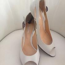 Sergio Rossi Off White Peep Toe Pumps Photo