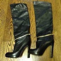 Sergio Rossi Over the Knee Leather Boots 36 1200  Photo
