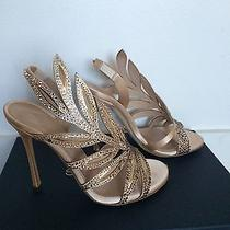 Sergio Rossi Satin and Crystal Perfect Wedding Shoe Sz 35 60% Off Retail Price Photo