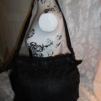 Serrta Vintage Black Leather Shoulder Bag Hobo Absolutely Gorgeous Photo