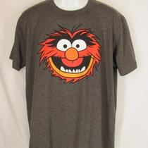Sesame Street Adult L T Shirt Dark Heather Gray Muppets - Animal - Disney Photo