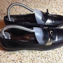 Sesto Meucci Made in Italy Black Slide on Loafer Flats Womens Sz 7m.  Ked Photo