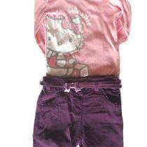 Set 3pcs Hello Kitty Girl12-24m Body Grow  Trousers  Belt Baby Toddler Pants Photo