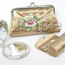 Set Champagne Colors Jewelry Silk Mirror Bags Pouches Boxes Set T356a20 Photo